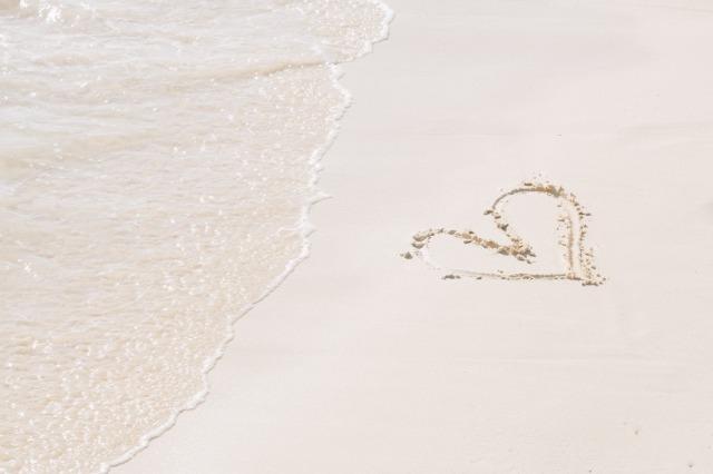 カップルの海水浴