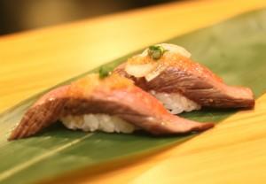 本格派 冷製ローストビーフ握り寿司