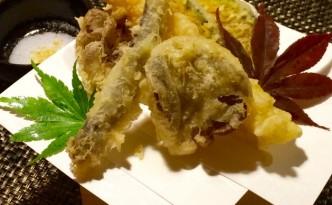 秋の味覚天ぷら