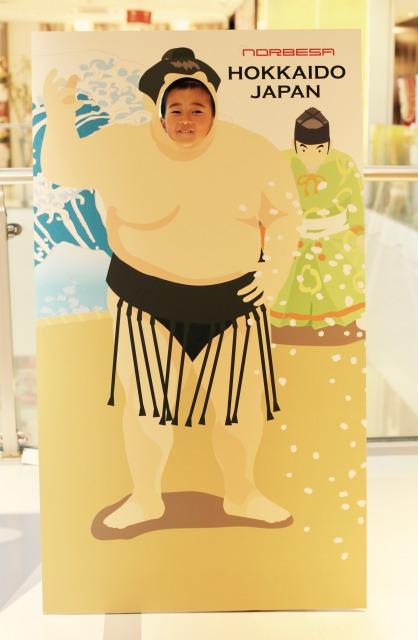 お相撲さん顔出しパネル