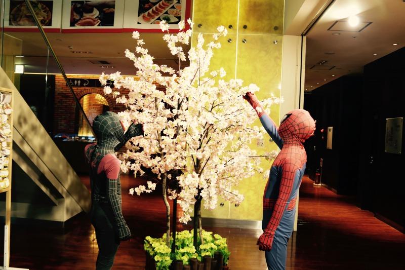 スパイダーマンとサクラツリー